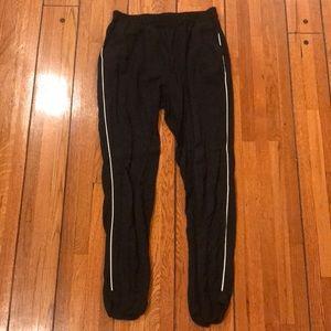 Zara | Black Athleisure Pants w/ White Piping